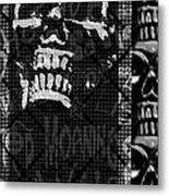 Skull Montage Metal Print
