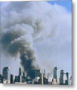Smoke Billows Over Manhattan Metal Print
