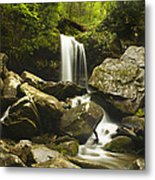 Smoky Mountain Waterfall Metal Print by Andrew Soundarajan