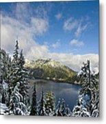 Snow Lake Vista Metal Print