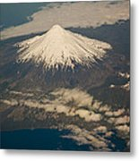 Snowcovered Volcano Andes Chile Metal Print