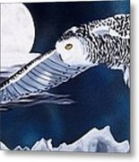 Snowy Flight Metal Print by Debbie LaFrance