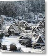 Snowy Village Metal Print