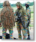 Soldiers Of The Special Forces Group Metal Print by Luc De Jaeger