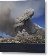 Soufriere Hills Eruption, Montserrat Metal Print