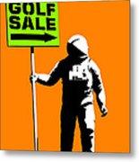 Space Golf Sale Metal Print