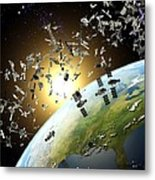 Space Junk, Conceptual Artwork Metal Print
