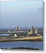 Space Shuttle Atlantis And Endeavour Metal Print