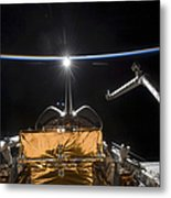 Space Shuttle Atlantis Payload Bay Metal Print
