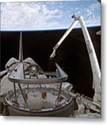 Space Shuttle Discoverys Payload Bay Metal Print