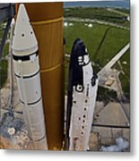 Space Shuttle Endeavour Lifts Metal Print
