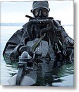 Special Operations Forces Combat Diver Metal Print