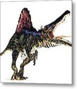 Spinosaurus Dinosaur, Artwork Metal Print by Animate4.comscience Photo Libary