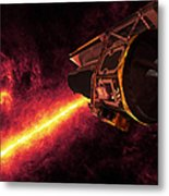 Spitzer Seen Against The Infrared Sky Metal Print