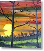 Spring Sunrise Metal Print