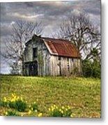 Spring Time Barn Metal Print