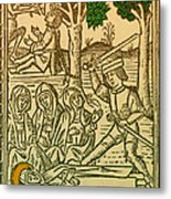 St. Catherine, Italian Philosopher Metal Print