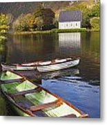 St. Finbarres Oratory And Rowing Boats Metal Print by Ken Welsh