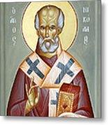 St Nicholas Of Myra Metal Print by Julia Bridget Hayes