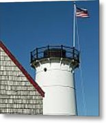 Stage Harbor Lighthouse Metal Print