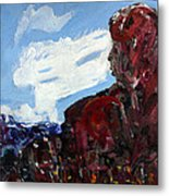 Stone Mother And Basket At Pyramid Lake In Nevada Metal Print