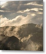 Storm Clouds Gather Over Mountains Metal Print