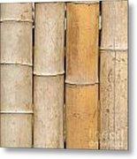 Straight Bamboo Poles Metal Print