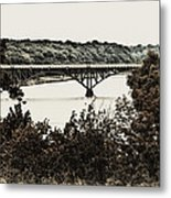 Strawberry Mansion Bridge From Laurel Hill Metal Print