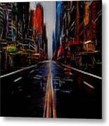 Streets Of New York  Metal Print