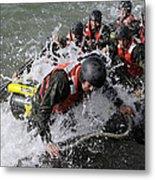 Students In Basic Underwater Metal Print by Stocktrek Images