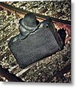 Suitcase And Hats Metal Print