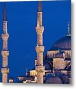 Sultanahmet Or Blue Mosque At Dusk Metal Print