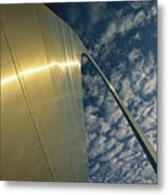 Sunlight Beams On The Gateway Arch Metal Print