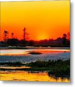 Sunrise Circle B Bar Reserve Metal Print