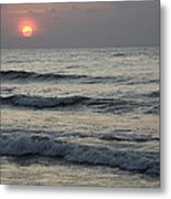Sunrise Over Arabian Sea Hawf Protected Metal Print