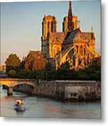 Sunrise Over Notre Dame Metal Print