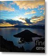 Sunrise Over The Wizard Metal Print