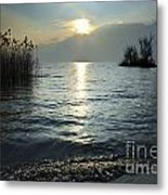 Sunset Over An Alpine Lake Metal Print
