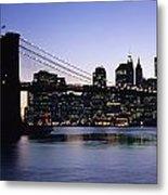 Sunset Over Lower Manhattan Metal Print
