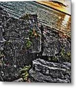 Sunset Please On The Rocks Metal Print