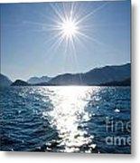 Sunshine Over An Alpine Lake Metal Print