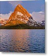 Swiftcurrent Lake Panorama Metal Print