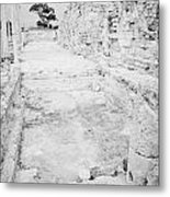 Swimming Pools In The Gymnasium And Baths In The Ancient Site Of Old Roman Villa Salamis Metal Print by Joe Fox