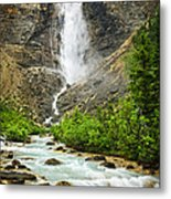 Takakkaw Falls Waterfall In Yoho National Park Canada Metal Print