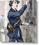 Telegraph Messenger, 1869 Metal Print