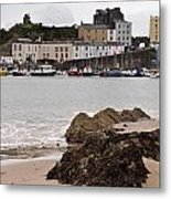 Tenby Harbour From North Beach Metal Print