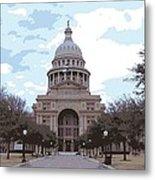 Texas Capitol Color 16 Metal Print