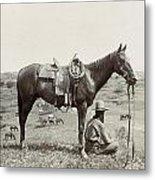 Texas: Cowboy, C1910 Metal Print