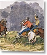 Texas Cowboys, C1850 Metal Print