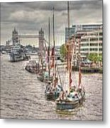 Thames Barges Tower Bridge 2012 Metal Print